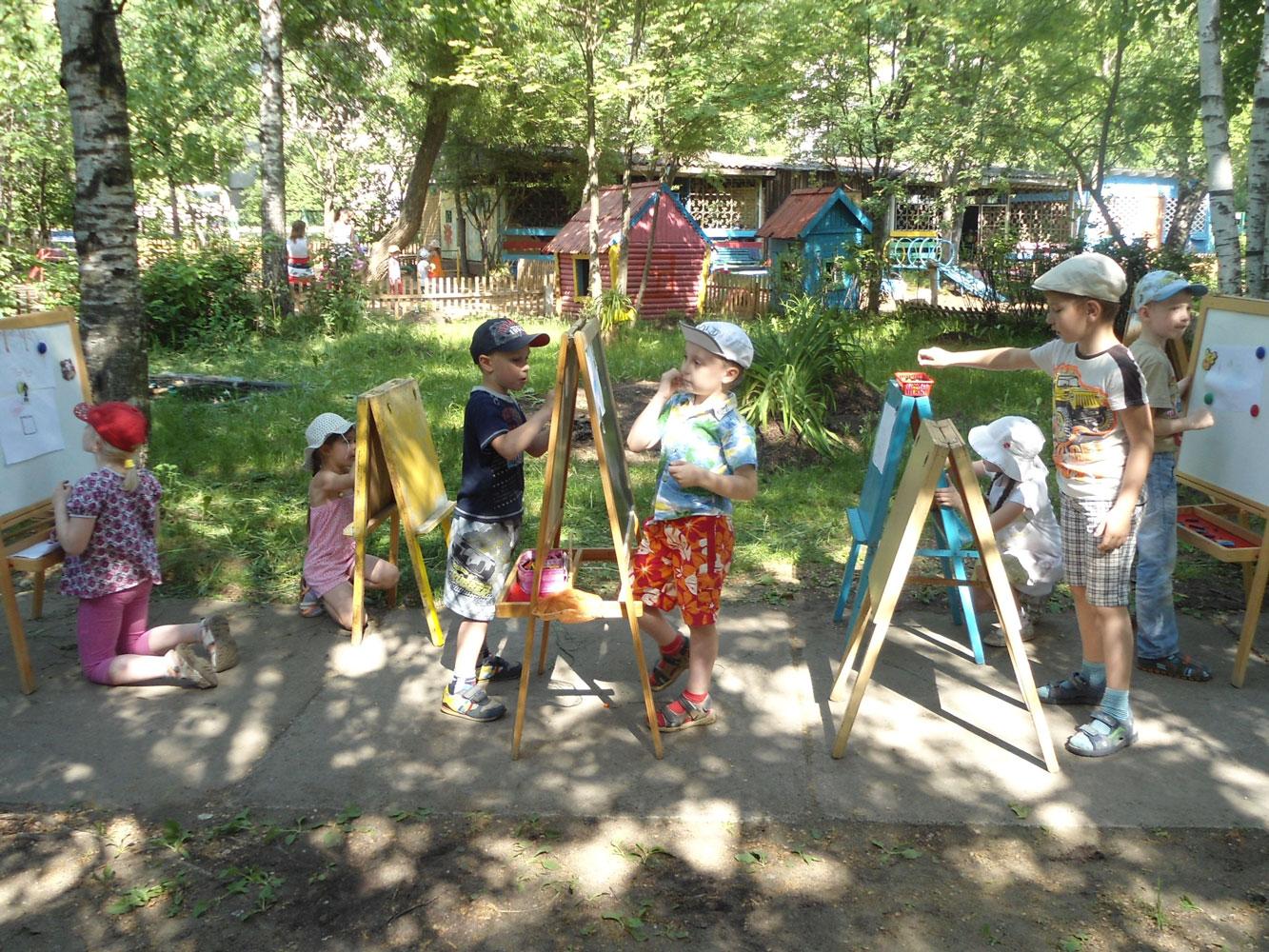 Пленэр в детском саду 89 Зоренька