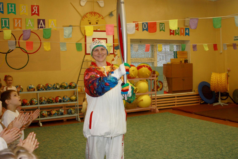 Открытие Малых Олимпийских игр в детском саду 89 Зоренька в 2014 г.